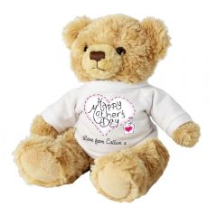 Personalised Heart Stitch Design Mothers Day Message Bear