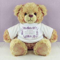 Personalised Soft Watercolour Teddy