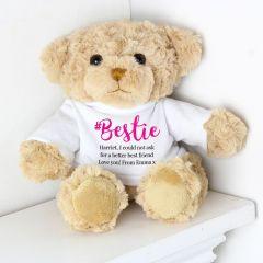 Personalised #Bestie Friends Teddy