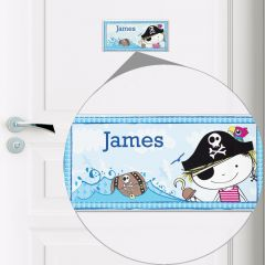 Personalised Pirate Letter Door Tile