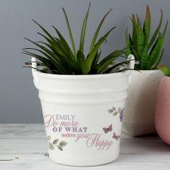 Personalised Secret Garden Porcelain Bucket