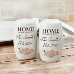 Personalised Shabby Chic Design Salt and Pepper Set