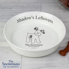 Personalised The Snowdog Pet Bowl