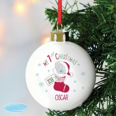 Personalised Tiny Tatty Teddy Bear My 1st Christmas Stocking Bauble