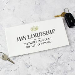 Personalised His Lordship Bone China Coin Tray
