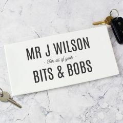 Personalised Bits & Bobs Bone China Tray