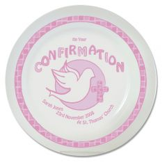 Personalised Pink Confirmation Plate