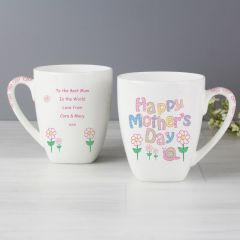 Personalised Mothers Day Daisy Latte Mug