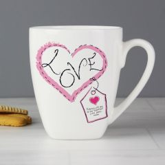 Personalised Heart Stitch Design Love Latte Mug