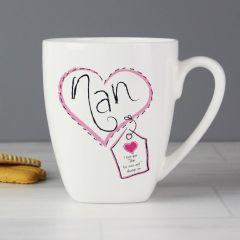 Personalised Heart Stitch Design Nan Small Latte
