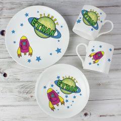 Personalised Space Design Breakfast Set
