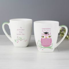 Personalised Miss Owl Teacher Design Latte Mug