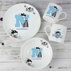 Personalised Pirate Letter Breakfast Set