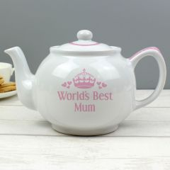 Personalised Pink Worlds Best Teapot