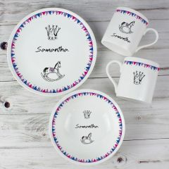 Personalised Royal Baby Breakfast Set