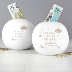 Personalised Twinkle Twinkle Design Money Box