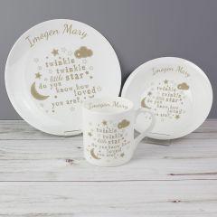 Personalised Twinkle Twinkle Design Breakfast Set