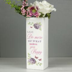 Personalised Secret Garden Square Vase