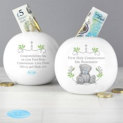 Personalised Me To You Religious Cross Design Money Box