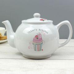 Personalised Vintage Design Pastel Cupcake Teapot