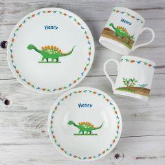 Personalised Dinosaur Design Breakfast Set