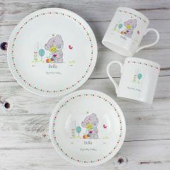 Personalised Tiny Tatty Teddy Bear Cuddle Bug Breakfast Set