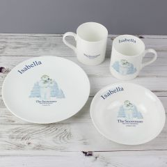 Personalised The Snowman and Snowdog Design Breakfast Set