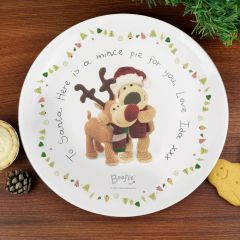 Personalised Boofle Bear Christmas Reindeer Mince Pie Plate