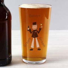 Personalised Cartoon Design Pint Glass