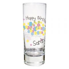 Personalised Birthday Balloon Design Shot Glass