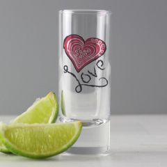 Personalised Love Design Shot Glass