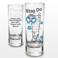 Personalised Stag Do Design Shot Glass
