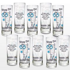 Personalised Stag Do Design Shot Glasses Pack of 10