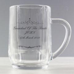 Personalised Ornate Swirl Design Tankard Glass
