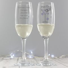 Personalised Hen Do Toast Champagne Flute
