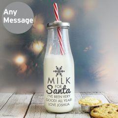 Personalised Milk for Santa Milk Bottle