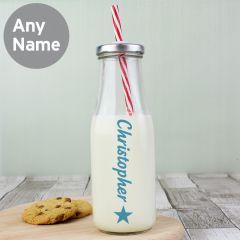 Personalised Motif Design Motif Milk Bottle