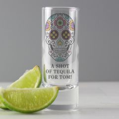 Personalised Sugar Skull Design Shot Glass