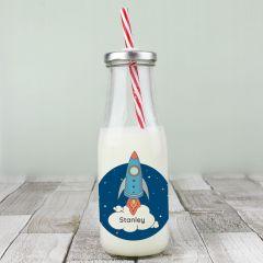 Personalised Rocket Milk Bottle
