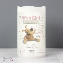 Personalised Boofle Bear It's a Girl Nightlight LED Candle