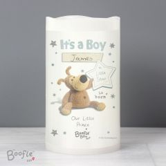 Personalised Boofle Bear It's a Boy Nightlight LED Candle