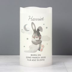 Personalised Baby Bunny Rabbit LED Candle