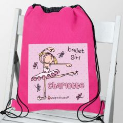 Personalised Bang On The Door Ballet Dancer School & Dance Bag