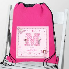 Personalised Fairy Letter Design Swim & Kit Bag