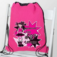 Personalised Girls Too Cool Drawstring Bag