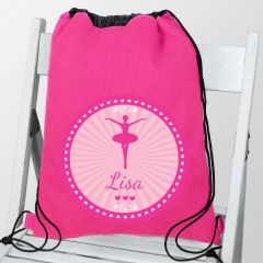 Personalised Ballerina Design School & Dance Bag