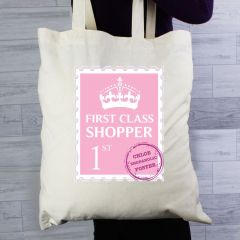 Personalised 1st Class Cotton Tote Bag