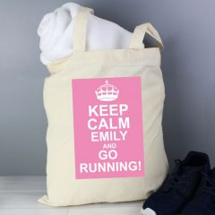 Personalised Keep Calm Cotton Tote Bag