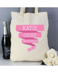 Personalised Pink Banner Cotton Tote Bag