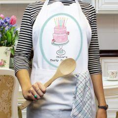 Personalised Vintage Pastel Cupcake Cookery Apron